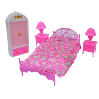 Dolls Accessories Pretend Play Furniture Set Toys For Barbie Dolls As Xmas Gifts For Kids Style:Bedroom