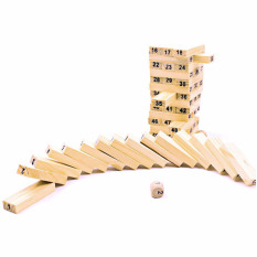 Domino 54pcs Stacker Extract Building Educational Jenga 4pcs Dice By Welcomehome.