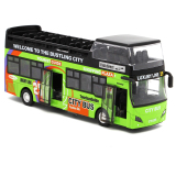 Low Cost Sound And Light 18Cm Open The Door Alloy Bus