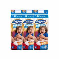 Drypers Wee Wee Dry Diapers Mega Xxl 40S X 3 Singapore
