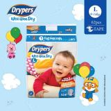 Get The Best Price For Drypers Wee Wee Dry L 62S X 1 Pack 9 14Kg