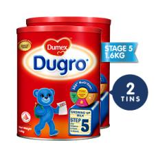 Dumex Dugro Regular Step 5 Kid S Milk Formula 1 6Kg 2 Tins Lower Price