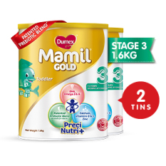 Price Free 400G Tin Dumex Mamil Gold Step 3 Baby Milk Formula 1 6Kg 2 Tins On Singapore