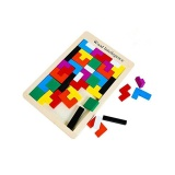 Compare Price Early Education Colorful Wooden Tangram Brain Tetris Block Intelligence Puzzle For Preschool Children Playing Intl On China