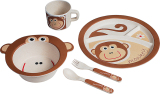 Compare Price Ecoware Bamboo Fiber 5Pcs Kids Dinnerware Cheeky Monkey On Singapore