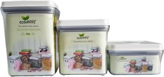 Price Ecoware Onetouch Airtight Container 3Pcs Set Transparent Ecoware Singapore