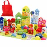Great Deal Educational Building Blocks Wooden Blocks Toy 100Pc 60Pc