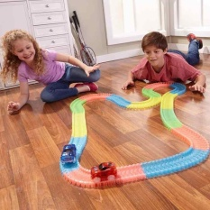 Cheapest Electrical Magic Tracks Diy Luminous Toy Cars Pathway Amazing Racetrack For Kids Intl