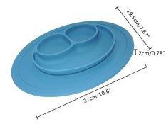 Esogoal Baby Feeding One-Piece Mini Happy Face Plate (blue) - Intl By Esogoal.