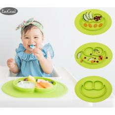 Esogoal Baby Silicone Placemat Suction Plates One-Piece Feeding Dishes Bowl Oval Shape By Esogoal.