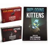 List Price Exploding Kittens And Imploding Kittens Full Set With Expansion Oem