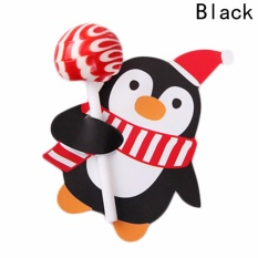 Fancyqube 50pcs Lovely Penguin And Santa Claus Snowman Christmas Candy And Lollipop Decoration Paper Cards Black - Intl By Fancyqube Fashion.
