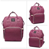 Sale Fashion Mummy Maternity Nappy Diaper Bag Large Capacity Baby Bag Travel Backpack Purple Intl Oem