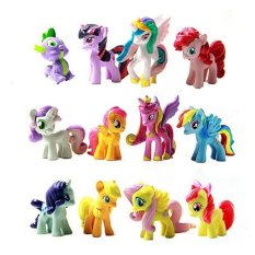 Compare Figurines Playset For My Little Pony Kids Gift 12 Pcs Intl