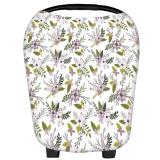 Best Deal Floral White 360 Full Multi Purpose Nursing Cover Car Seat Cover Breastfeeding Wear Nursing Poncho Cover Shawl