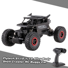 Flytech 9118 1/18 2.4g 4wd Alloy Body Shell Crawler Rc Buggy Car - Intl By Tomtop.