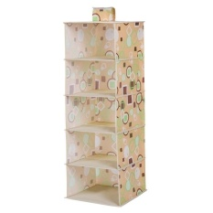 Cheaper Foldable 5 Shelf Closet Organizer Collection Hanging Accessory Multi Function Shelves Intl
