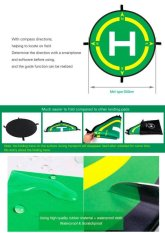 Best Price Foldable Landing Pad Parking Apron Drone Landing Field With Compass Directions Intl