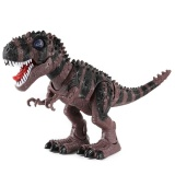 Sale Four Season Big Sale Children S Puzzle Large Electric Tyrannosaurus Dinosaur Toy Walking Belt With Light Red Wine Intl