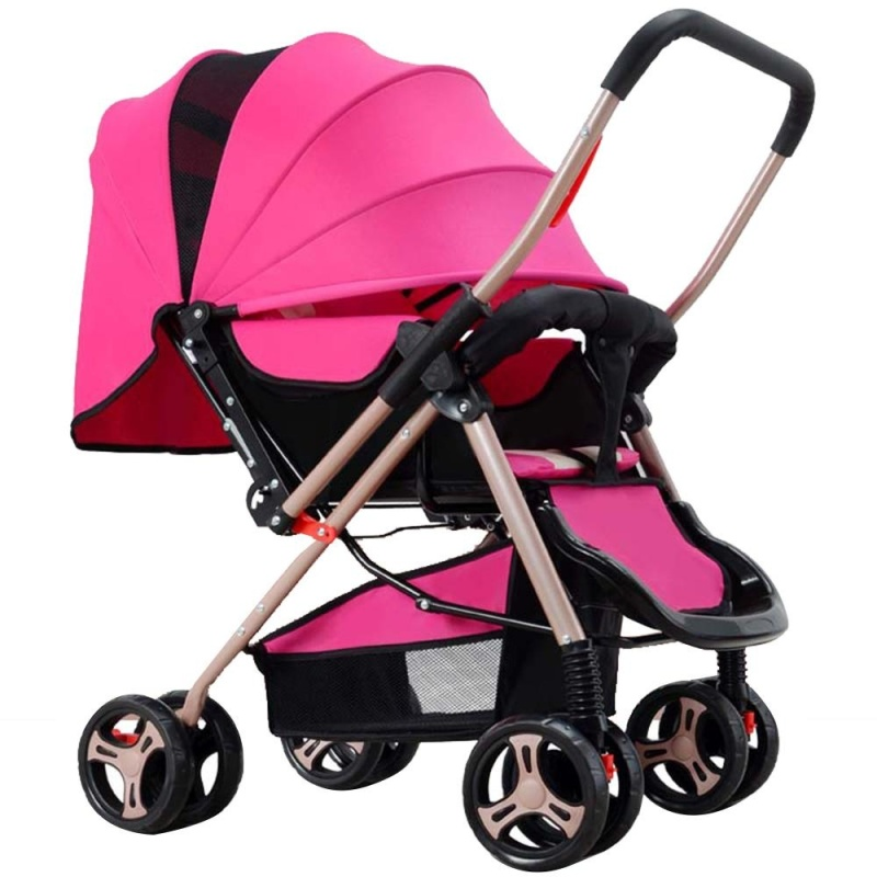 Four-wheel Foldable Pram Baby Stroller - intl Singapore
