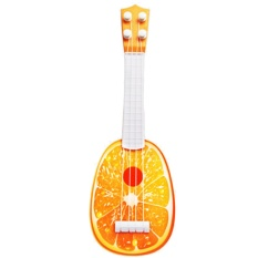 Funny Mini Fruit Style Kids Guitar Ukulele Toy Can Play Children Educational Learning Musical Instruments Toy Orange Style - Intl By Vococal Shop.