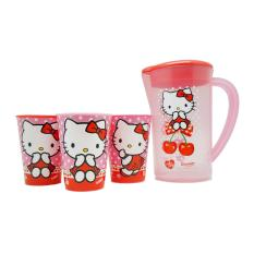 Genuine Hello Kitty Pitcher & 3pcs Tumblers By Axklusiv.