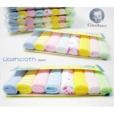 Gerber Washcloth/hankerchief 8 Pack New Born By Moomoofarm.