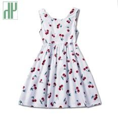 779f6c241b2ad Girl dress summer cherry Pattern Baby Girls Dress children dress print  flower Design Sleeveless Girls Clothes costumes for kids - intl