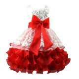 Girls Sequin Formal Evening Gown Flower Wedding Princess Party Dress Intl Coupon