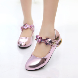 Discount Girls Shoes High Heeled Princess Shoes Sequins Large Children Small G*Rl Show Dance Shoes Student Performance Gold Pink Oem China