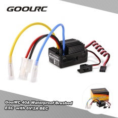 Goolrc 40A Waterproof Brushed Esc Electric Speed Controller With 6V 2A Bec For 1 10 Rc Rock Crawler Car Rc Boat Intl For Sale Online
