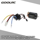 Sale Goolrc 540 35T 4 Poles Brushed Motor And Wp 1060 Rtr 60A Waterproof Brushed Esc Electronic Speed Controller With 5V 2A Bec For 1 10 Rc Car Intl On China