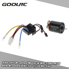Goolrc 540 35T 4 Poles Brushed Motor And Wp 1060 Rtr 60A Waterproof Brushed Esc Electronic Speed Controller With 5V 2A Bec For 1 10 Rc Car Intl For Sale
