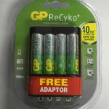 Gp Recyko 4 Aa 2000Mah U421 40Mins Rapid Usb Charger With Free Adaptor On Singapore