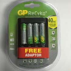 Discount Gp Recyko 4 Aaa 800Mah U421 40Mins Rapid Usb Charger With Free Adaptor Gp On Singapore