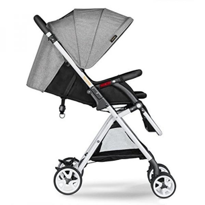 GPL/ Besrey BR-C703S Lightweight Baby Stroller Foldable Lightweight Stroller,Infant Adjustable Pushchair Pram with Storage Basket,for 0-36 Months(Grey)/ship from USA - intl Singapore