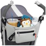 Grab And Go Attachable Stroller Organizer And Cup Holder With Detachable Wristlet Grey Price Comparison