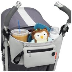 Sale Grab And Go Attachable Stroller Organizer And Cup Holder With Detachable Wristlet Grey