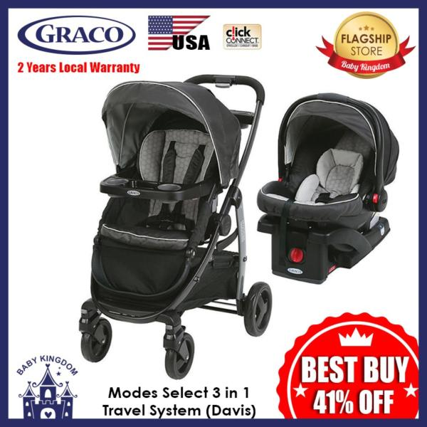 Graco Modes Select Click Connect Travel System 3 in 1 (Davis) - Local Warranty Singapore