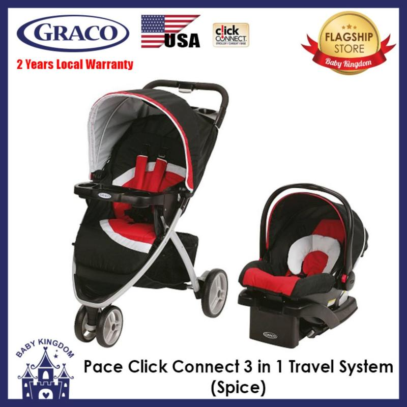 Graco Pace Click Connect Travel System 3 in 1 (Spice) - Local Warranty Singapore