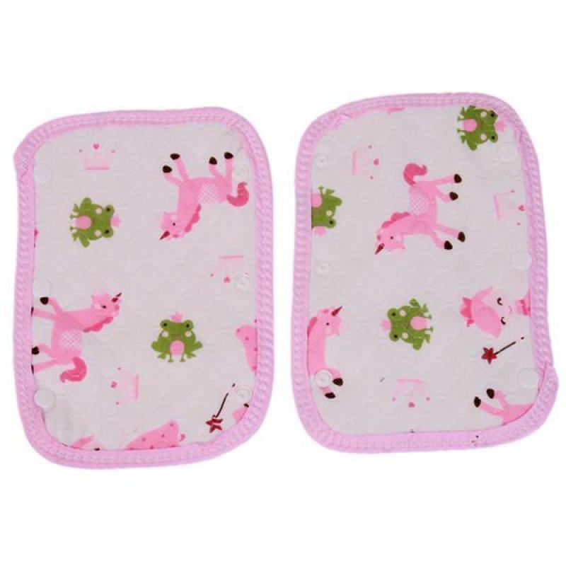 Hang-Qiao 1 Pair Cartoon Baby Stroller Foot Cover Safety Soft Pad Pink Singapore