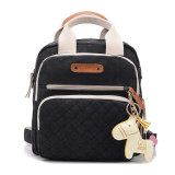 Discount Haotom Multifunction Large Capacity Canvas Baby Diaper Bag Black Oem On China