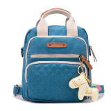 Price Haotom Multifunction Large Capacity Canvas Baby Diaper Bag Blue China