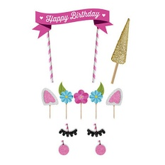 Happy Birthday Party Cake Toppers Decorations For Kids Baby - Intl By Stoneky.