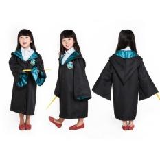 Best Price Harry Potter Kids Slytherin Cloak Robe Costumes Cosplay Size 125 Intl