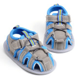 Hely Top Baby Boy Shoes Hollowed Out Close Toed Sandals Blue Best Buy