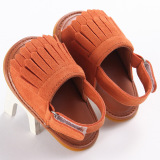 Review Hely Top Baby G*rl Shoes Sandals Tassels Open Toed Sneakers Princess Shoes Light Coffee Oem