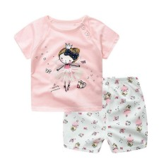 9c37c813fdd90 HH Brand Baby girl clothes Casual summer newborn baby girls clothing Short  sleeves Printed Top+