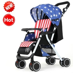 High Grade Folding Four Wheeled Shockproof Baby Carriage Intl Free Shipping