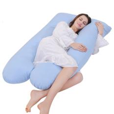 Promo High Quality U Shape Maternity Pregnancy Pillow Nursing Sleeping Blue